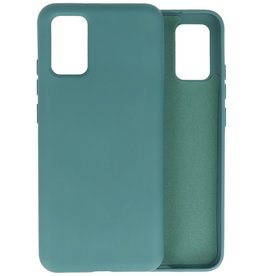 Lunso Lunso - Softcase hoes -  Samsung Galaxy A02s  - Army Groen