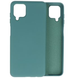 Lunso Lunso - Softcase hoes -  Samsung Galaxy A12  - Army Groen