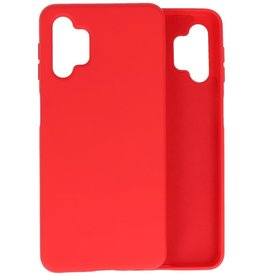 Lunso Lunso - Softcase hoes -  Samsung Galaxy A32  - Rood