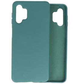 Lunso Lunso - Softcase hoes -  Samsung Galaxy A32  - Army Groen