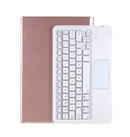 Lunso Lunso - Afneembare Keyboard Hoes - Lenovo Tab P11  - Roze Goud