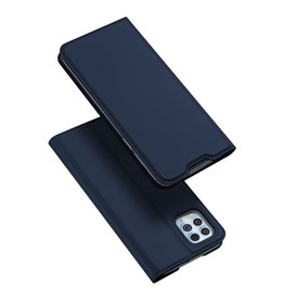 Dux Ducis Dux Ducis - Pro Serie Slim wallet hoes - Motorola Moto G100  - Blauw