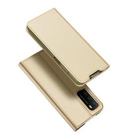 Dux Ducis Dux Ducis - Pro Serie Slim wallet hoes - Xiaomi Poco M3 -  Goud