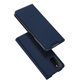 Dux Ducis Dux Ducis - Pro Serie Slim wallet hoes - Xiaomi Poco M3 -  Blauw