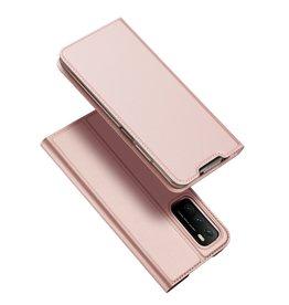 Dux Ducis Dux Ducis - Pro Serie Slim wallet hoes - Xiaomi Poco M3 -  Rose Goud