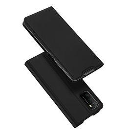 Dux Ducis Dux Ducis - Pro Serie Slim wallet hoes - Xiaomi Poco M3 -  Zwart