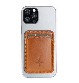 NorthLife NorthLife - Brida Lederen Magsafe (magnetische) cardholder / pasjeshouder - iPhone 12/13 Serie - Cognac