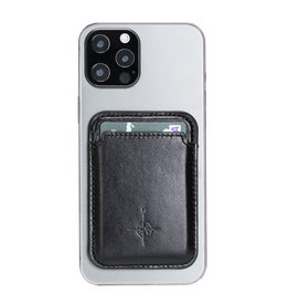 NorthLife NorthLife - Brida Lederen Magsafe (magnetische) cardholder / pasjeshouder - iPhone 12/13 Serie - Zwart