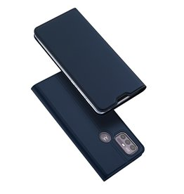 Dux Ducis Dux Ducis - Slim bookcase hoes - Motorola Moto G10 / Moto G30 - Blauw