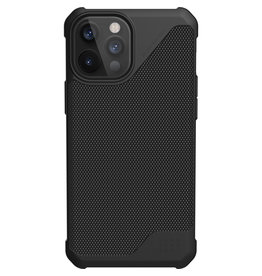 Urban Armor Gear UAG - Metropolis backcover hoes - iPhone 12 Pro Max - Zwart + Lunso Tempered Glass