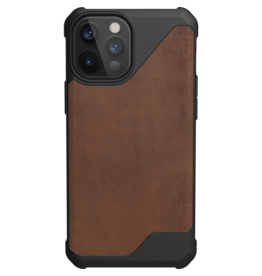 Urban Armor Gear UAG - Metropolis backcover hoes - iPhone 12 Pro Max - Bruin + Lunso Tempered Glass