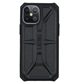 Urban Armor Gear UAG - Monarch backcover hoes - iPhone 12 Pro Max - Zwart + Lunso Tempered Glass