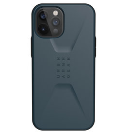 Urban Armor Gear UAG - Civilian backcover hoes - iPhone 12 Pro Max - Blauw + Lunso Tempered Glass