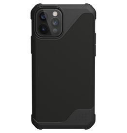 Urban Armor Gear UAG - Metropolis backcover hoes - iPhone 12 / iPhone 12 Pro - Zwart + Lunso Tempered Glass