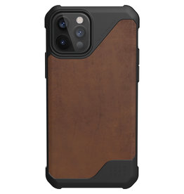 Urban Armor Gear UAG - Metropolis backcover hoes - iPhone 12 / iPhone 12 Pro - Bruin + Lunso Tempered Glass