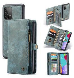 Caseme Caseme - vintage 2 in 1 portemonnee hoes - Samsung Galaxy A52 - Blauw