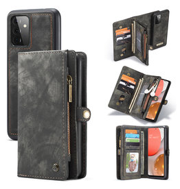 Caseme Caseme - vintage 2 in 1 portemonnee hoes - Samsung Galaxy A72 - Zwart