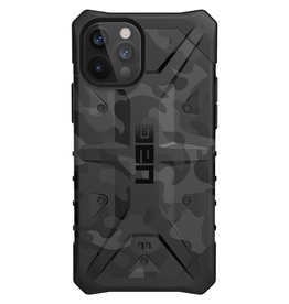Urban Armor Gear UAG - Pathfinder backcover hoes - iPhone 12 / iPhone 12 Pro - Camouflage Grijs + Lunso Tempered Glass