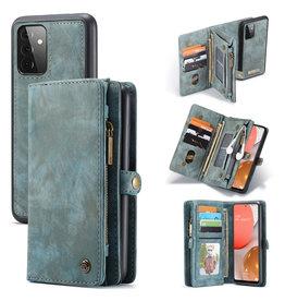 Caseme Caseme - vintage 2 in 1 portemonnee hoes - Samsung Galaxy A72 - Blauw