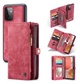 Caseme Caseme - vintage 2 in 1 portemonnee hoes - Samsung Galaxy A72 - Rood