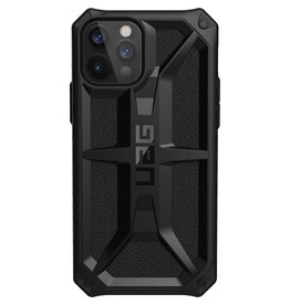 Urban Armor Gear UAG - Monarch backcover hoes - iPhone 12 / iPhone 12 Pro - Zwart + Lunso Tempered Glass