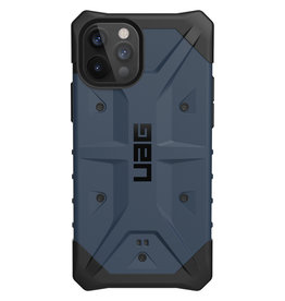 Urban Armor Gear UAG - Pathfinder backcover hoes - iPhone 12 / iPhone 12 Pro - Blauw + Lunso Tempered Glass