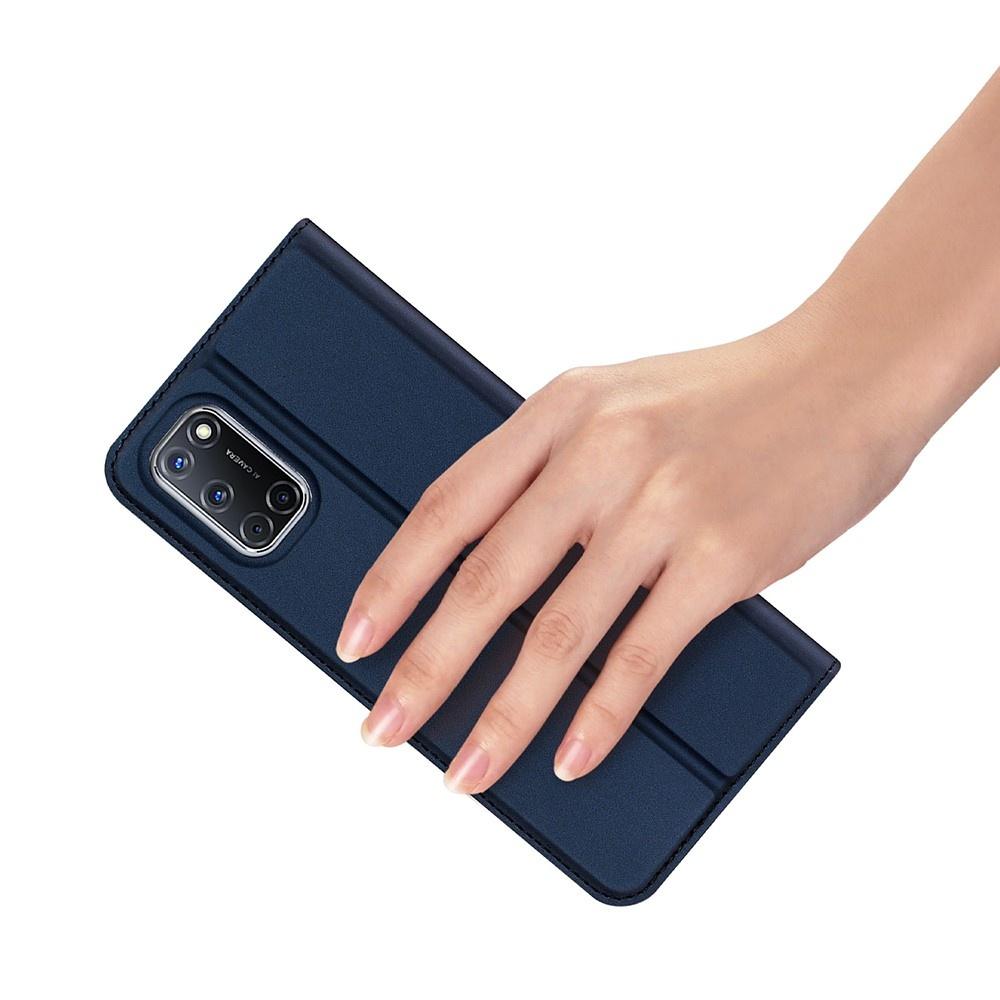 Dux Ducis Slim Bookcase hoes Blauw voor de Oppo A72