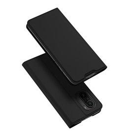 Dux Ducis Dux Ducis - Slim bookcase hoes - Xiaomi Poco F3 - Zwart