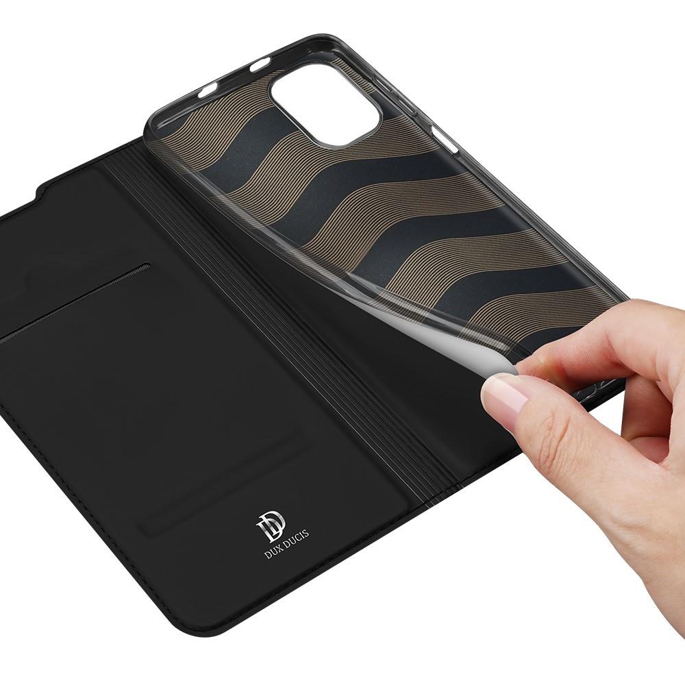 Dux Ducis Slim Bookcase hoes Zwart voor de Xiaomi Poco F3
