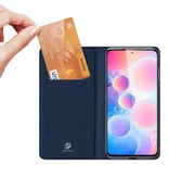 Dux Ducis Slim Bookcase hoes Blauw voor de Xiaomi Poco F3
