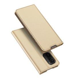 Dux Ducis Dux Ducis - Slim bookcase hoes - Xiaomi Poco F3 - Goud