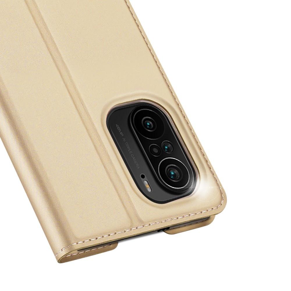 Dux Ducis Slim Bookcase hoes Goud voor de Xiaomi Poco F3