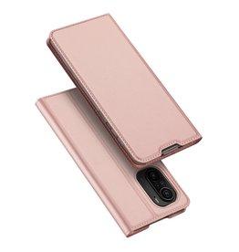 Dux Ducis Dux Ducis - Slim bookcase hoes - Xiaomi Poco F3 - Rose Goud