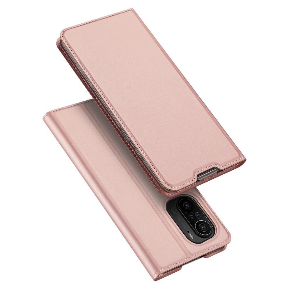 Dux Ducis Slim Bookcase hoes Rose Goud voor de Xiaomi Poco F3
