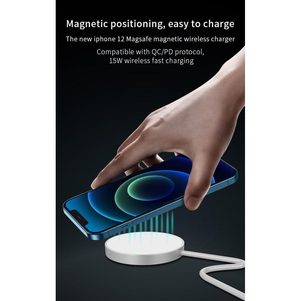 Lunso Magsafe (magnetische) 15W draadloze oplader Wit voor de iPhone 12 serie