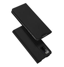 Dux Ducis Dux Ducis - Slim bookcase hoes - Samsung Galaxy A02s - Zwart