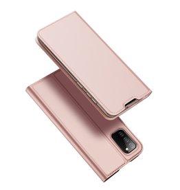 Dux Ducis Dux Ducis - Slim bookcase hoes - Samsung Galaxy A02s - Rose Goud