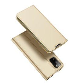 Dux Ducis Dux Ducis - Slim bookcase hoes - Samsung Galaxy A02s - Goud
