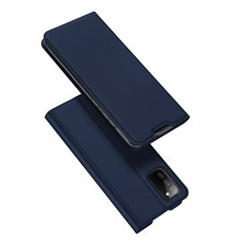 Dux Ducis Dux Ducis - Slim bookcase hoes - Samsung Galaxy A02s - Blauw