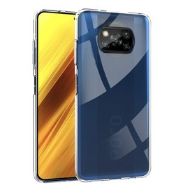Lunso Lunso - Softcase hoes -  Xiaomi Poco X3 - Transparant