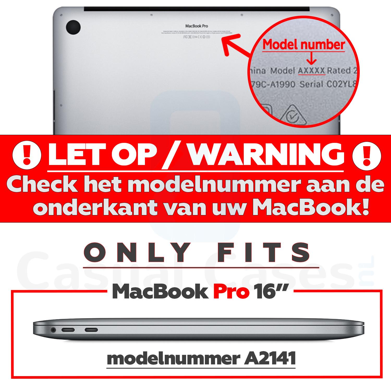 Lunso MacBook Pro 16 inch cover beschermhoes Glanzend Transparant