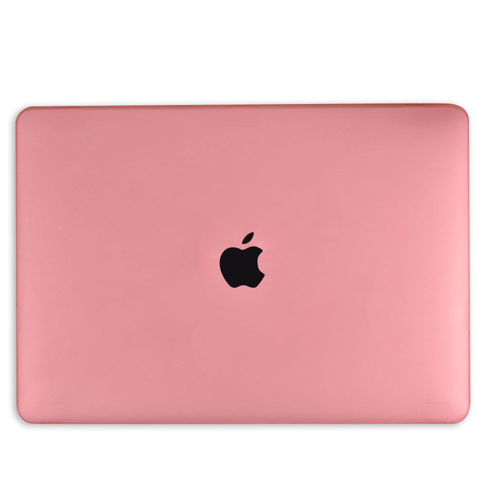 Lunso MacBook Pro 16 inch cover beschermhoes Mat Lichtroze