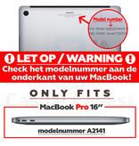 Lunso MacBook Pro 16 inch cover beschermhoes Mat Zwart