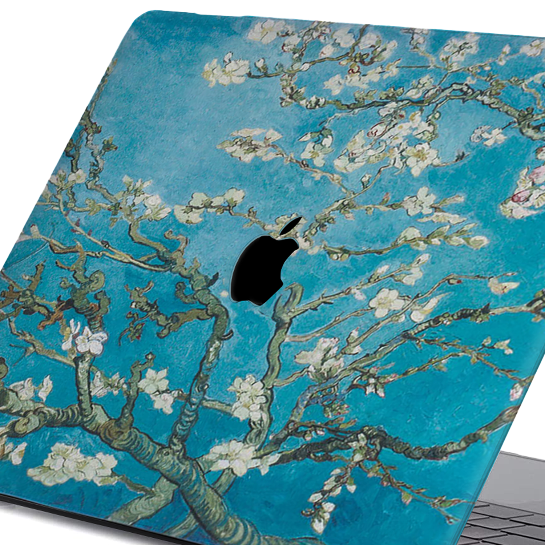 Lunso MacBook Pro 16 inch cover beschermhoes Van Gogh Amandelboom