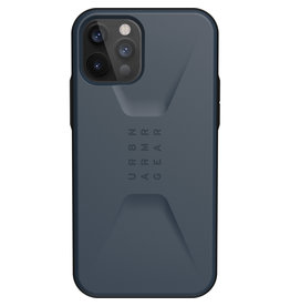 Urban Armor Gear UAG - Civilian backcover hoes - iPhone 12 / iPhone 12 Pro - Blauw + Lunso Tempered Glass