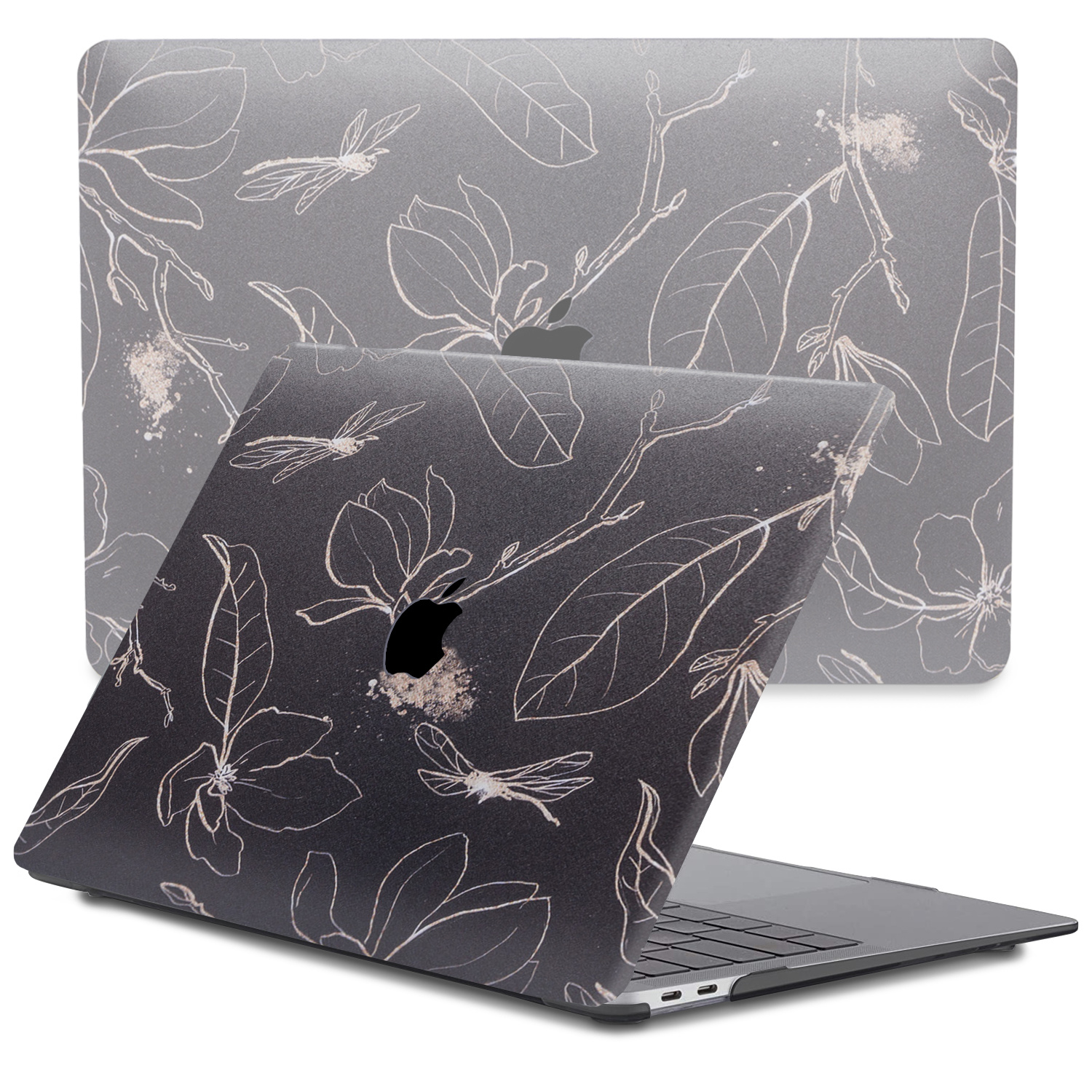 Lunso MacBook Air 13 inch (2020) cover beschermhoes Dragonfly Black