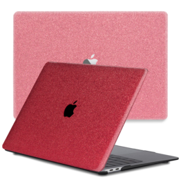 Lunso Lunso - cover hoes - MacBook Pro 16 inch - Glitter Rood