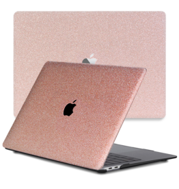 Lunso Lunso - cover hoes - MacBook Pro 16 inch - Glitter Rose Goud