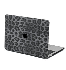 Lunso Lunso - Leren cover hoes - MacBook Pro 16 inch - Leopard Pattern White