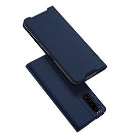 Dux Ducis Dux Ducis - Slim bookcase hoes - Sony Xperia 5 III - Blauw